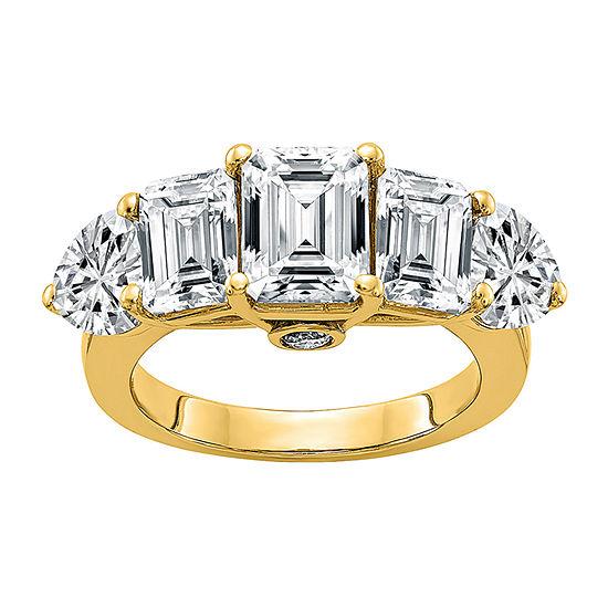 True Light Womens 4 CT. T.W. Lab Created White Moissanite 14K Gold Engagement Ring