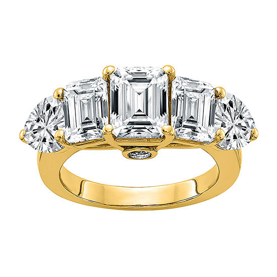 True Light Womens 4 1/2 CT. T.W. Lab Created White Moissanite 14K Gold Engagement Ring