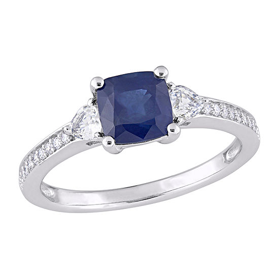 Womens 1/10 CT. T.W. Genuine Blue Sapphire 14K Gold Engagement Ring
