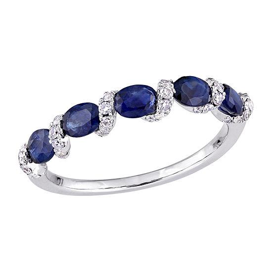 Womens 1/4 CT. T.W. Genuine Blue Sapphire 14K Gold Band