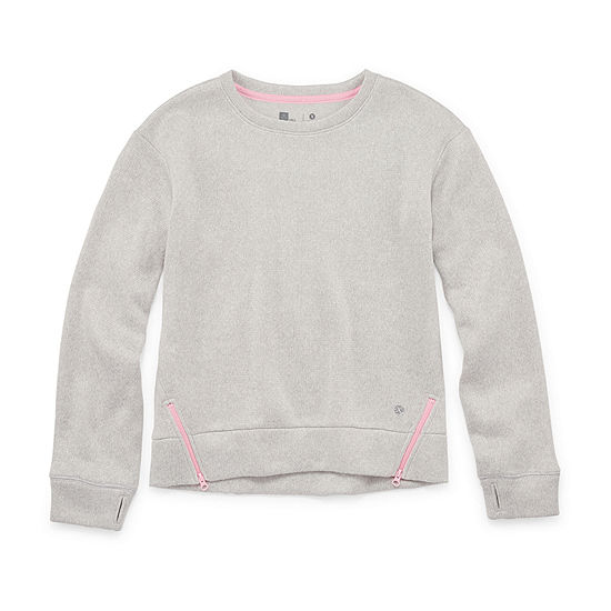Xersion Little & Big Girls Round Neck Long Sleeve Sweatshirt