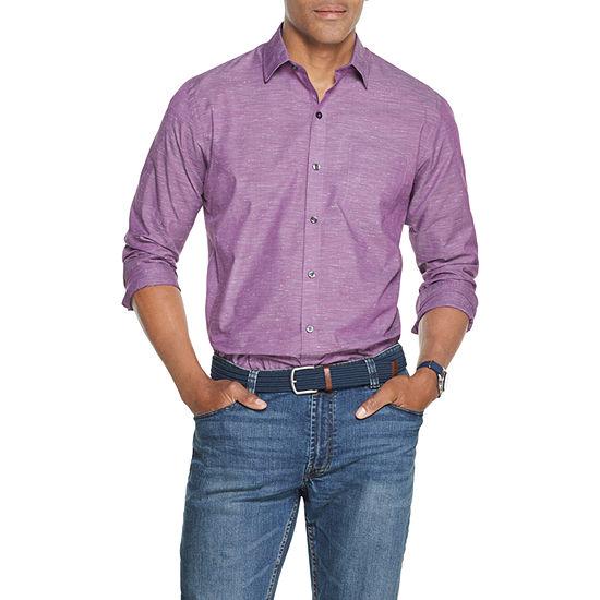Van Heusen Air Mens Long Sleeve Button-Front Shirt
