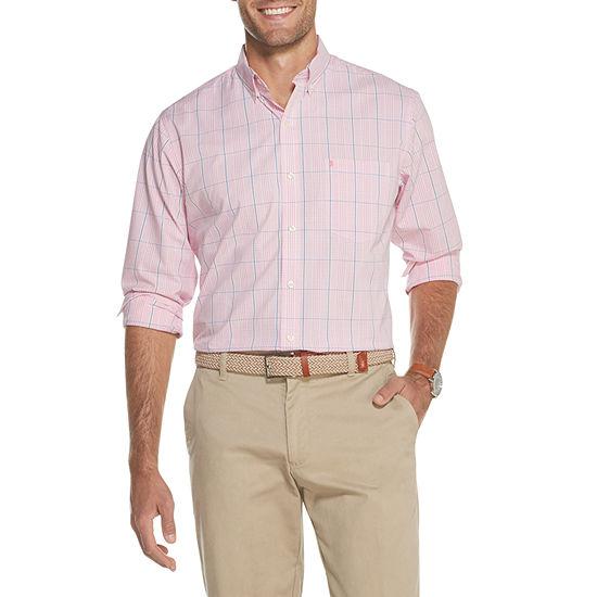 IZOD Premium Essentials Unisex Adult Long Sleeve Gingham Button-Front Shirt