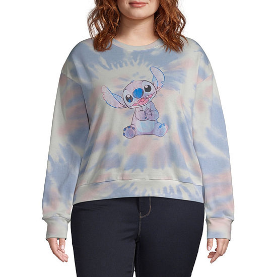 Disney Collection Juniors Womens Crew Neck Long Sleeve Sweatshirt