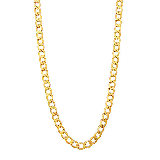 "14K Gold 18-24"" 6.5mm Hollow Curb Chain Necklace"