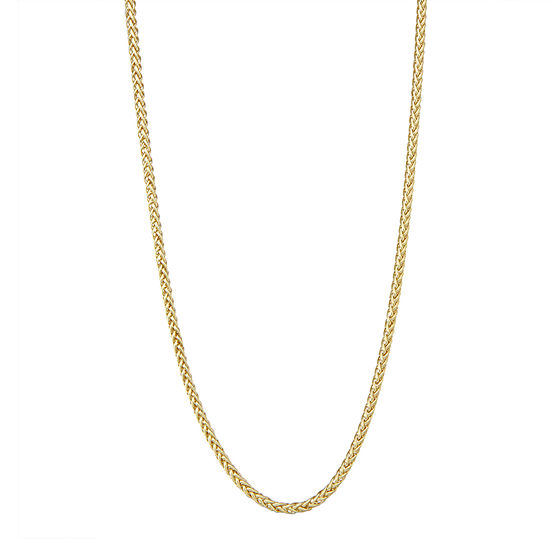 "14K Gold 18-24"" 3mm Hollow Wheat Chain Necklace"
