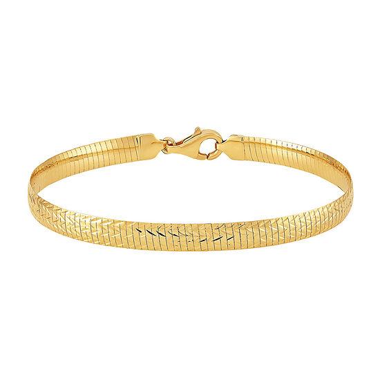 14K Gold 8 Inch Omega Chain Bracelet