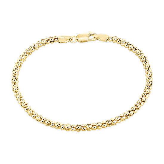 Made in Italy 14K Gold Over Silver 7.5 Inch Solid Chain Bracelet