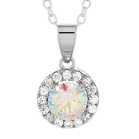 Diamonart Womens 1 3/4 CT. T.W. White Cubic Zirconia Sterling Silver Pendant Necklace