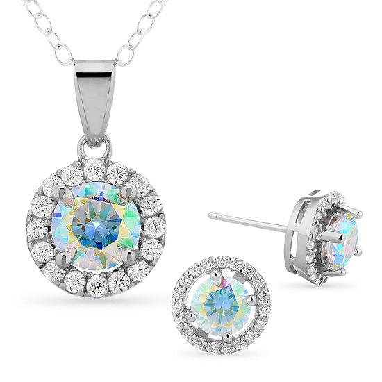 Diamonart 5 1/4 CT. T.W. White Cubic Zirconia Sterling Silver Jewelry Set