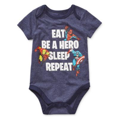 Okie Dokie Boys Avengers Bodysuit-Baby