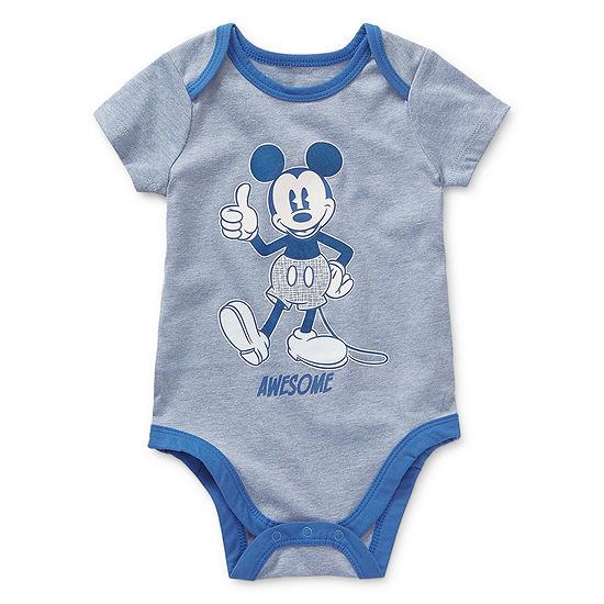 Okie Dokie-Baby Boys Mickey Mouse Bodysuit