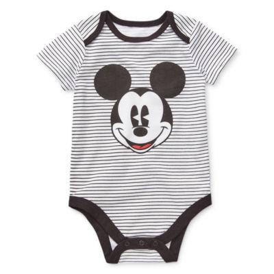 Okie Dokie Boys Mickey Mouse Bodysuit-Baby