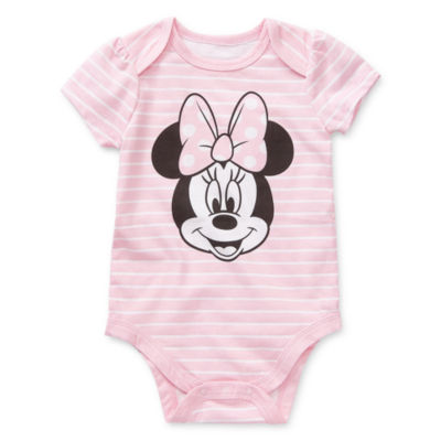 Okie Dokie Girls Minnie Mouse Bodysuit-Baby