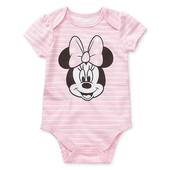Okie Dokie Girls Minnie Mouse Bodysuit-Baby