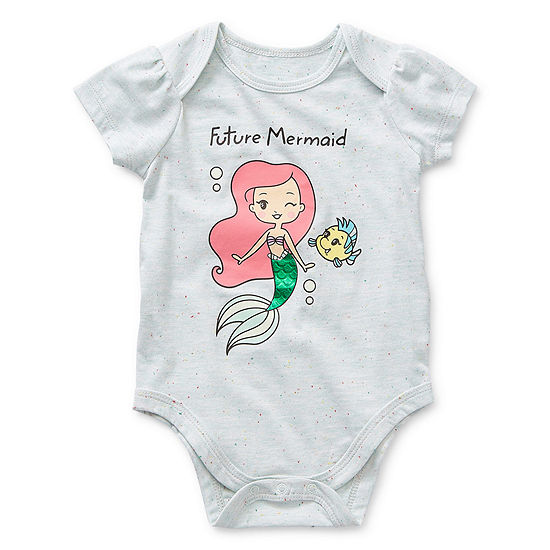 Okie Dokie Girls The Little Mermaid Bodysuit-Baby
