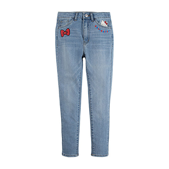 Levi's-Toddler Girls Hello Kitty Skinny Flat Front Pant