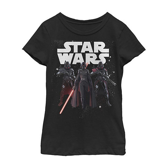 Jedi Fallen Order Second Sister Purge Troopers Girls Crew Neck Short Sleeve Star Wars Graphic T-Shirt - Big Kid