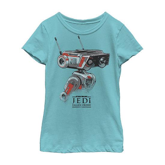 Jedi Fallen Order Droid Bd-1 Girls Crew Neck Short Sleeve Star Wars Graphic T-Shirt - Big Kid