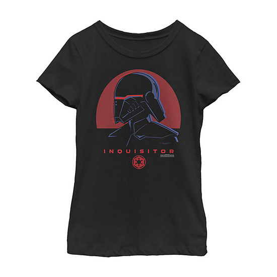 Jedi Fallen Order Red Sun Inquisitor Girls Crew Neck Short Sleeve Star Wars Graphic T-Shirt - Big Kid