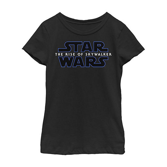 The Rise Of Skywalker Logo Girls Crew Neck Short Sleeve Star Wars Graphic T-Shirt - Big Kid