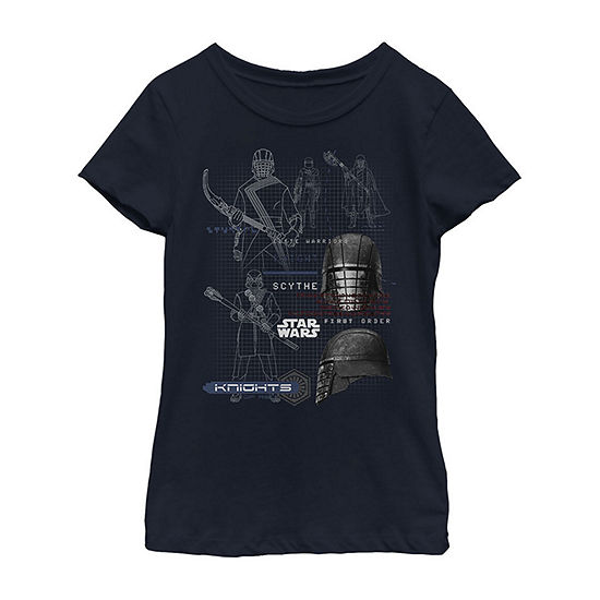 Ren Maps Girls Crew Neck Short Sleeve Star Wars Graphic T-Shirt - Big Kid