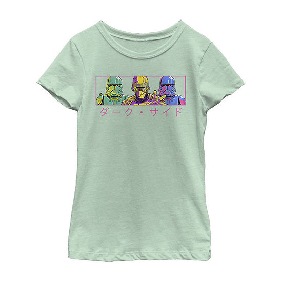 First Order Pop Girls Crew Neck Short Sleeve Star Wars Graphic T-Shirt - Big Kid