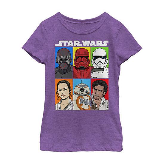Friend Of Foe Girls Crew Neck Short Sleeve Star Wars Graphic T-Shirt - Big Kid