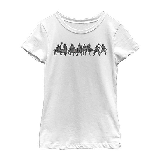 New Order Lineup - Big Kid Girls Crew Neck Star Wars Short Sleeve Graphic T-Shirt