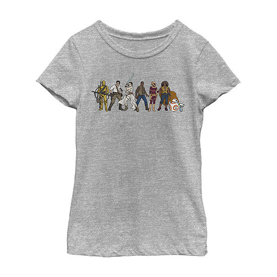 Resistance Lineup Girls Crew Neck Short Sleeve Star Wars Graphic T-Shirt - Big Kid
