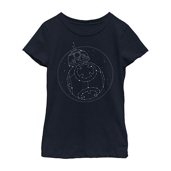 Constellation Girls Crew Neck Short Sleeve Star Wars Graphic T-Shirt - Big Kid