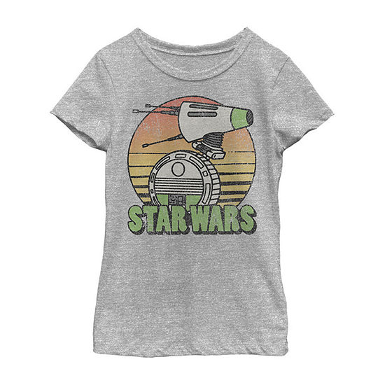 Just D-O It Girls Crew Neck Short Sleeve Star Wars Graphic T-Shirt - Big Kid