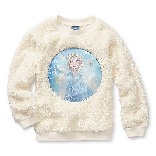 Disney Girls Crew Neck Long Sleeve Frozen 2 Sweatshirt - Preschool