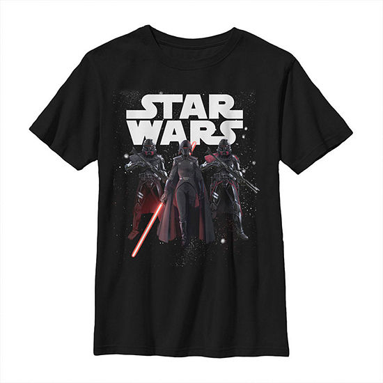 Jedi Fallen Order Second Sister Purge Troopers - Big Kid Boys Slim Crew Neck Star Wars Short Sleeve Graphic T-Shirt
