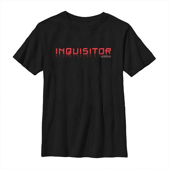 Jedi Fallen Order Inquisitor Boys Crew Neck Short Sleeve Star Wars Graphic T-Shirt - Big Kid Slim