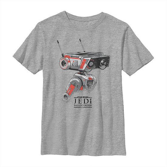 Jedi Fallen Order Droid Bd-1 Boys Crew Neck Short Sleeve Star Wars Graphic T-Shirt - Big Kid Slim