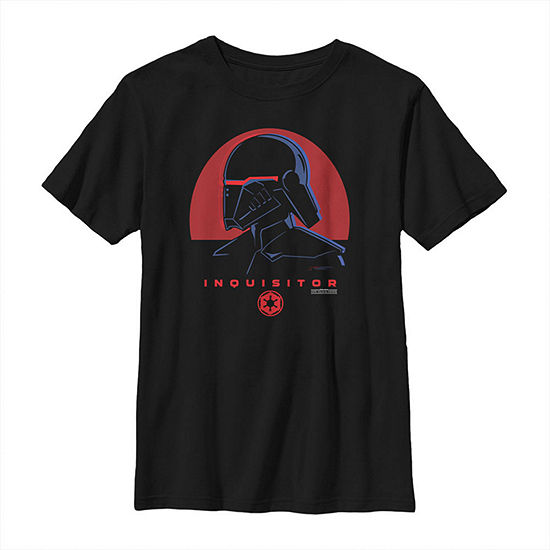Jedi Fallen Order Red Sun Inquisitor Boys Crew Neck Short Sleeve Star Wars Graphic T-Shirt - Big Kid Slim
