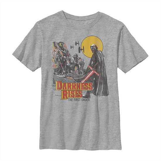 Kylo Ren The First Order Darkness Rises - Big Kid Boys Slim Crew Neck Star Wars Short Sleeve Graphic T-Shirt