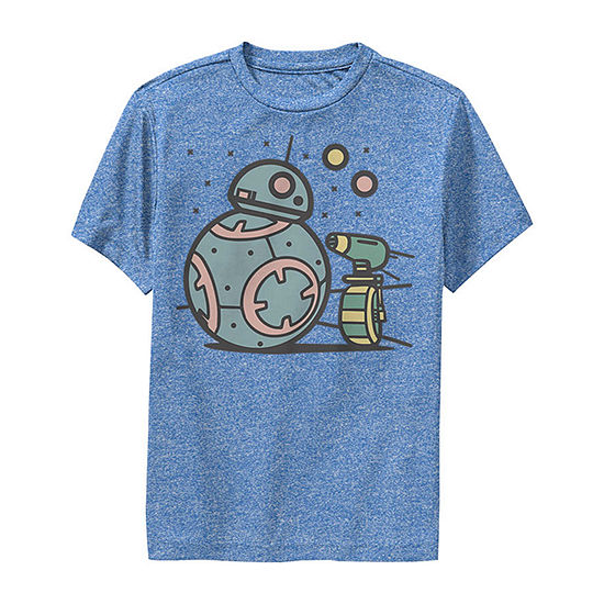 Bb-8 D-O Droid Team Boys Crew Neck Short Sleeve Star Wars Graphic T-Shirt - Big Kid Slim
