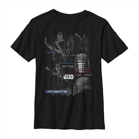 First Order Knights Boys Crew Neck Short Sleeve Star Wars Graphic T-Shirt - Big Kid Slim