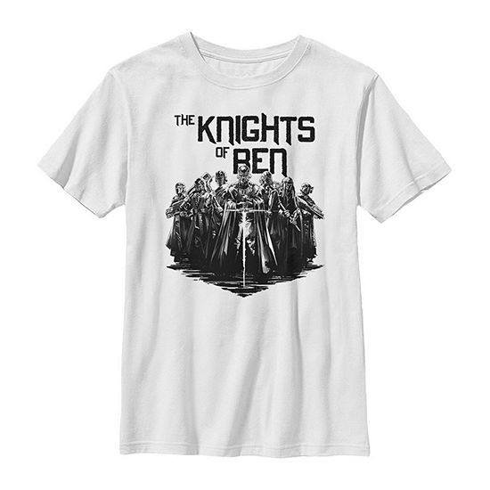 The Knights Of Ren Boys Crew Neck Short Sleeve Star Wars Graphic T-Shirt - Big Kid