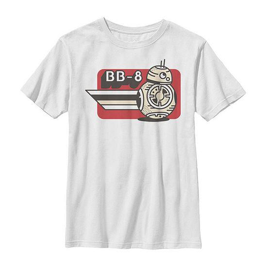 Episode 9 Bb-8 Card - Big Kid Boys Slim Crew Neck Star Wars Short Sleeve Graphic T-Shirt