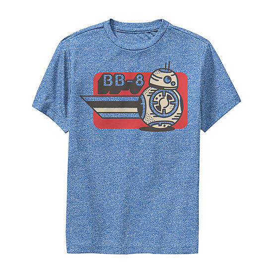 Episode 9 Bb-8 Card Boys Crew Neck Short Sleeve Star Wars Graphic T-Shirt - Big Kid Slim