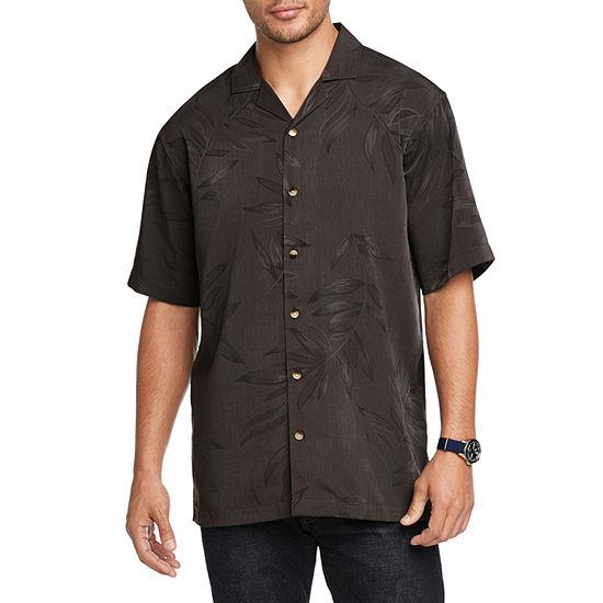 Van Heusen Mens Short Sleeve Cooling Moisture Wicking Jacquard Button-Down Shirt