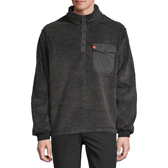American Outdoorsman Mens High Neck Long Sleeve Quarter-Zip Pullover