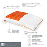 Sealy® Copper Chill Gel Memory Foam Medium Density Pillow
