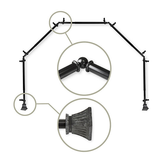 Rod Desyne Trumpet 5-Sided Bay Window Rod