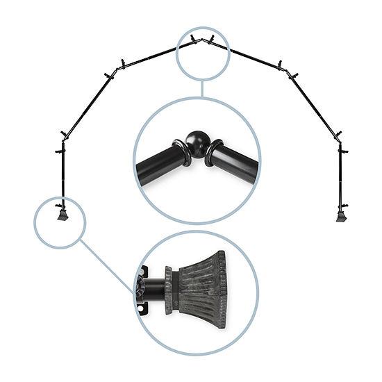 Rod Desyne Trumpet 6-Sided Bay Window Rod