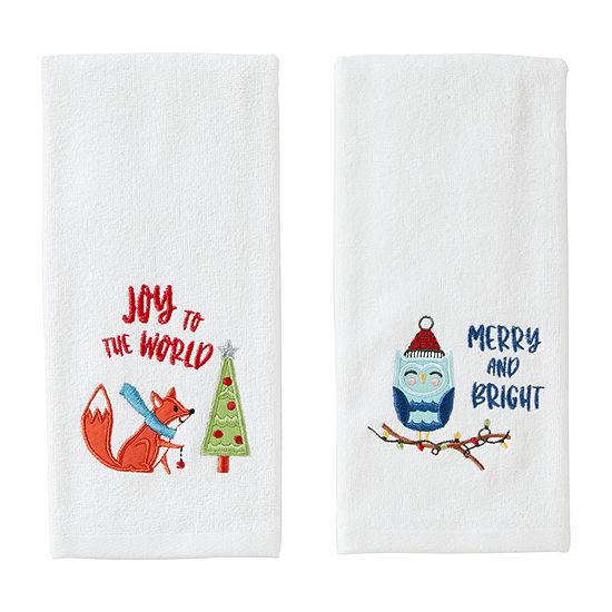 Saturday Knight Owl And Fox 2-pc. Hand Towel
