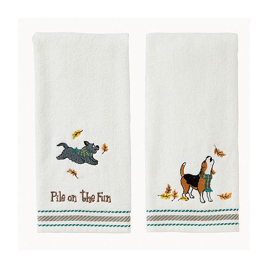 Saturday Knight Scotti And Beagle 2-pc. Hand Towel